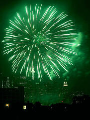 barium nitrate makes fireworks green