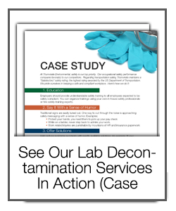 See Our Lab Decontamination Services in Action (Case Study)