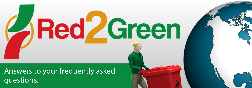 Red2Green medical waste disposal.