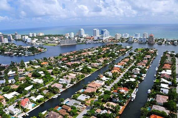 Fort Lauderdale aerial view