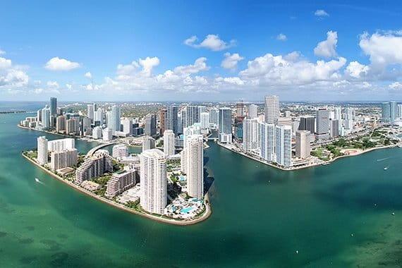 Miami Florida aerial view