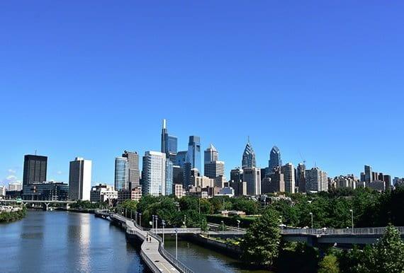 Philadelphia PA cityscape