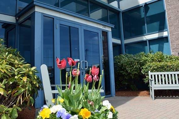 Triumvirate Somerville front office door