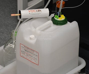 HPLC solvent waste collection