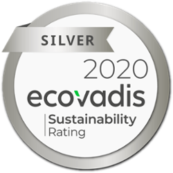 2020 Silver ecovadis sustainability rating