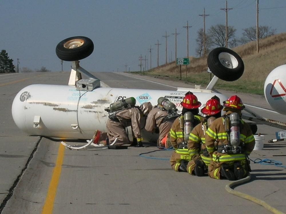 Emergency Response to Flipped Vehicle