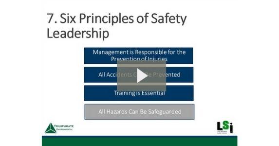 Six principles of lab safety leadership slides