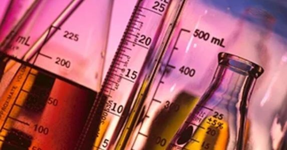 chemicals in vials