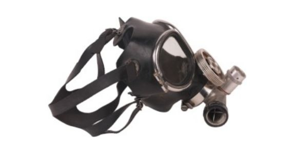 full face fitted respirator with eye protection