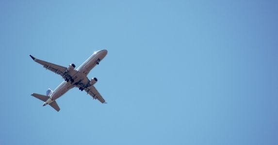 comercial airplane in sky