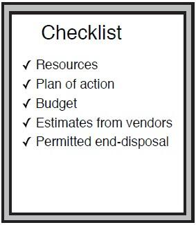 Emergency oil spill checklist image