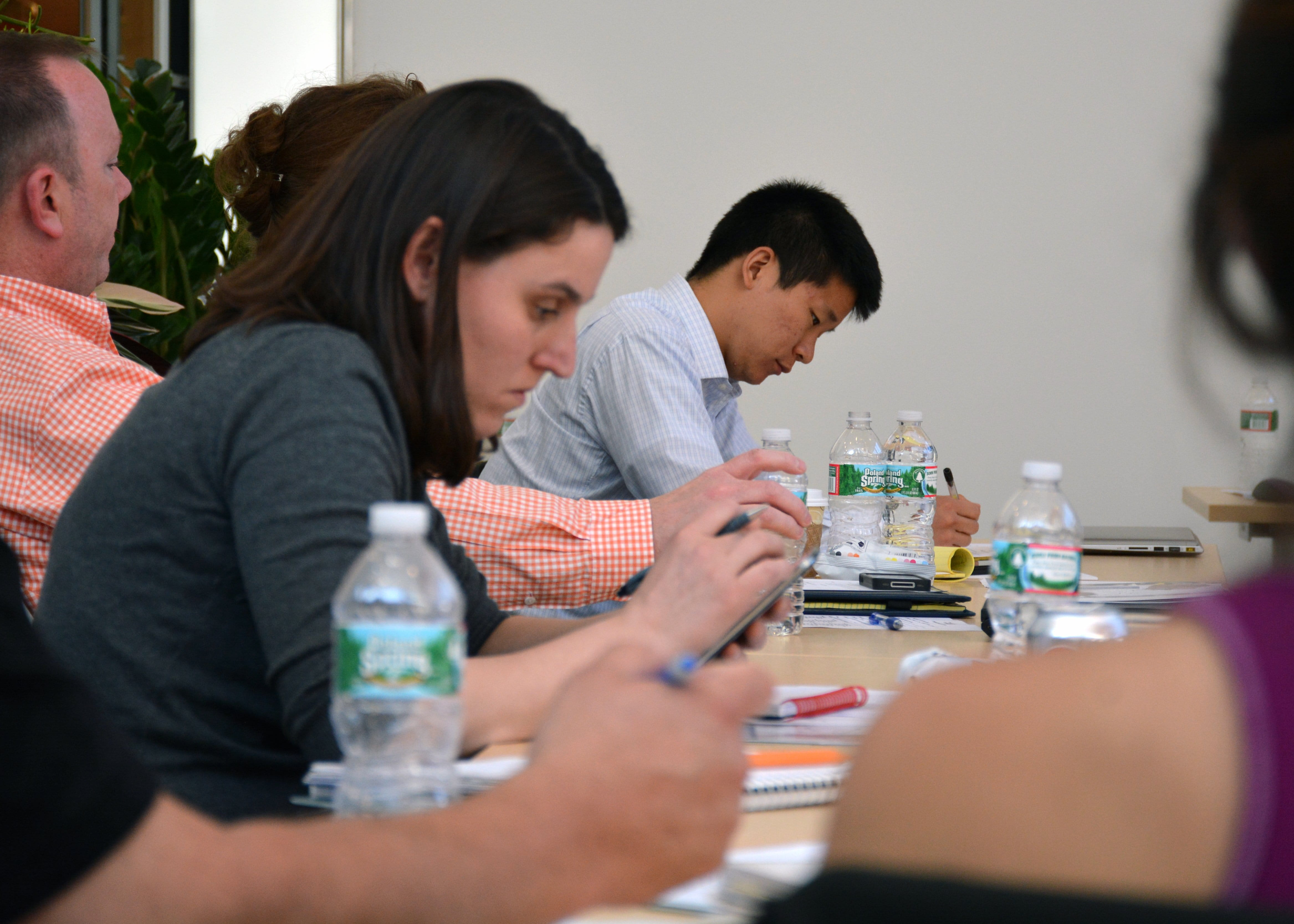Training attendees sitting at table